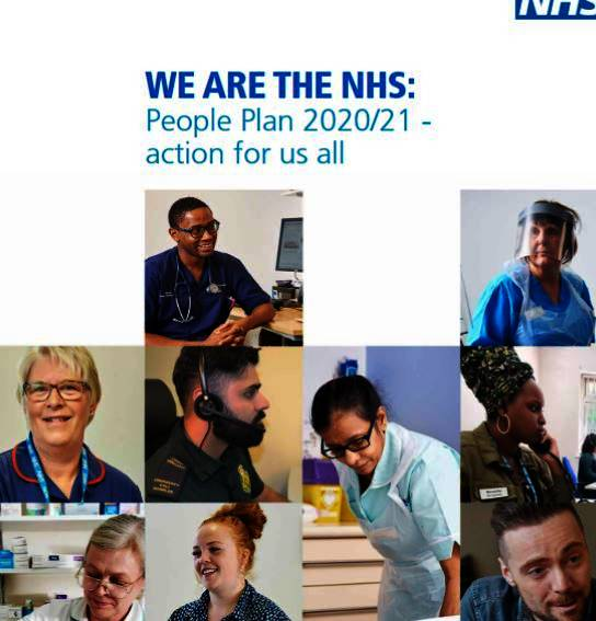 Image of the front cover of the NHS People Plan 2020